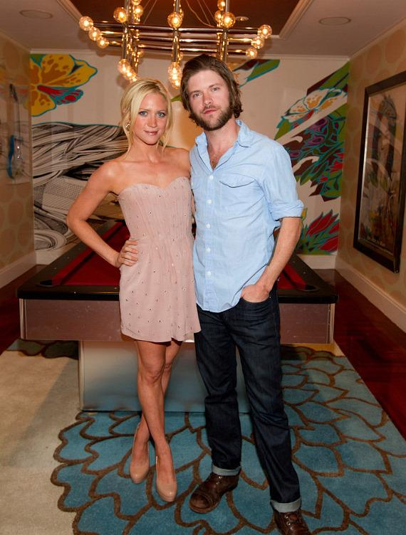 Brittany Snow and boyfriend Matthew Mayfield at Real World Suite at Hard Rock Hotel