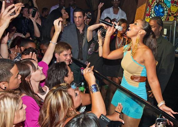 Mya performs at Vanity Nightclub at Hard Rock Hotel & Casino