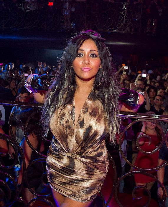 Nicole 'Snooki' Polizzi of MTV's Jersey Shore hosts at LAX Nightclub