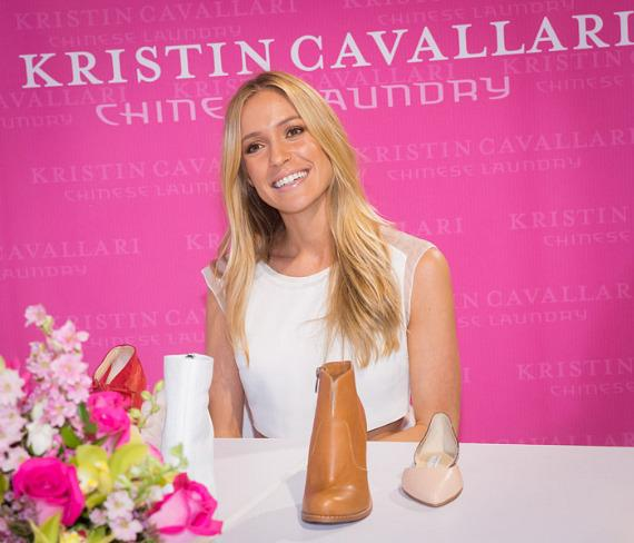 Kristin Cavallari in the Chinese Laundry booth at FN PLATFORM Trade Show