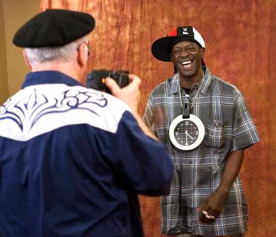 Photographer Robert Knight and Flavor Flav