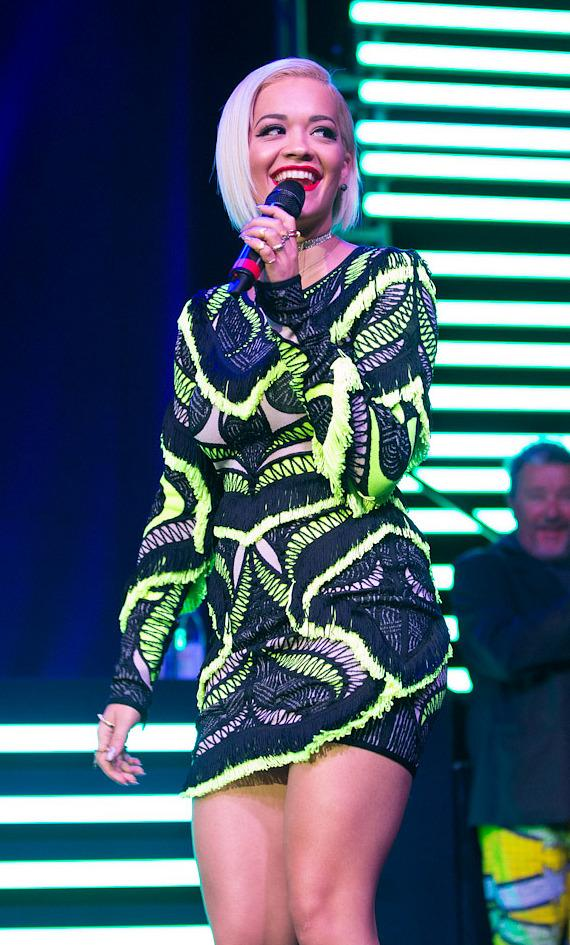 Rita Ora performs at SLS Vegas grand opening