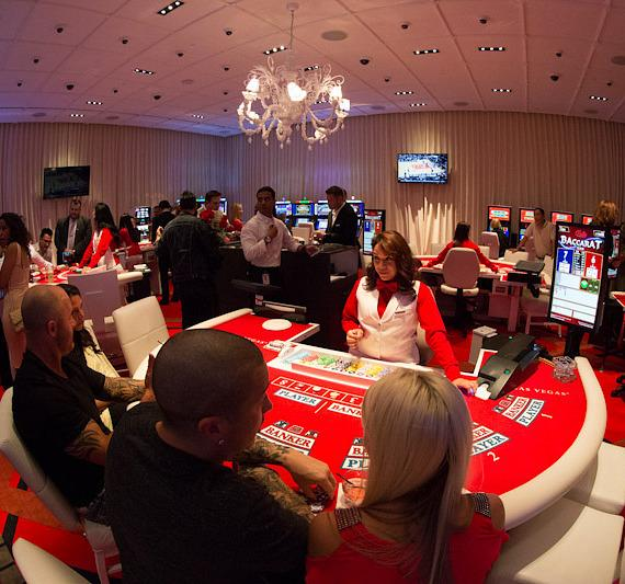 Baccarat game at SLS Vegas