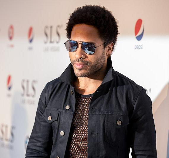 Lenny Kravitz on red carpet at SLS Vegas grand opening