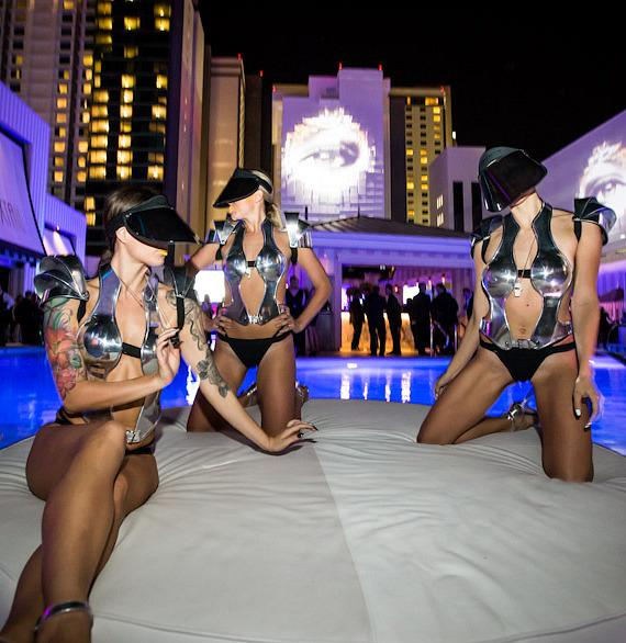 Models at SLS Vegas grand opening
