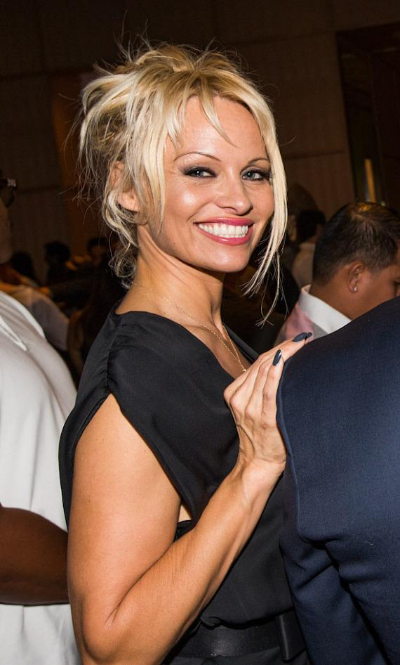 Actress Pamela Anderson  at SLS Vegas grand opening