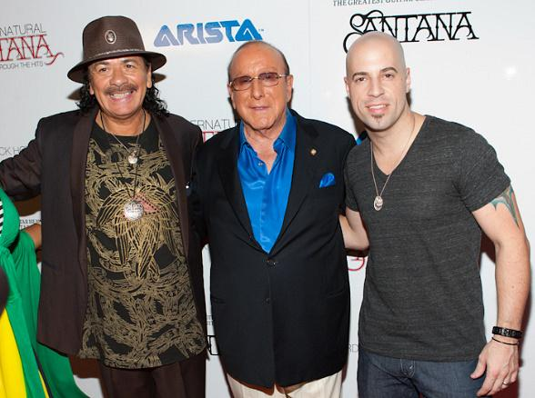 Carlos Santana, Clive Davis and Chris Daughtry