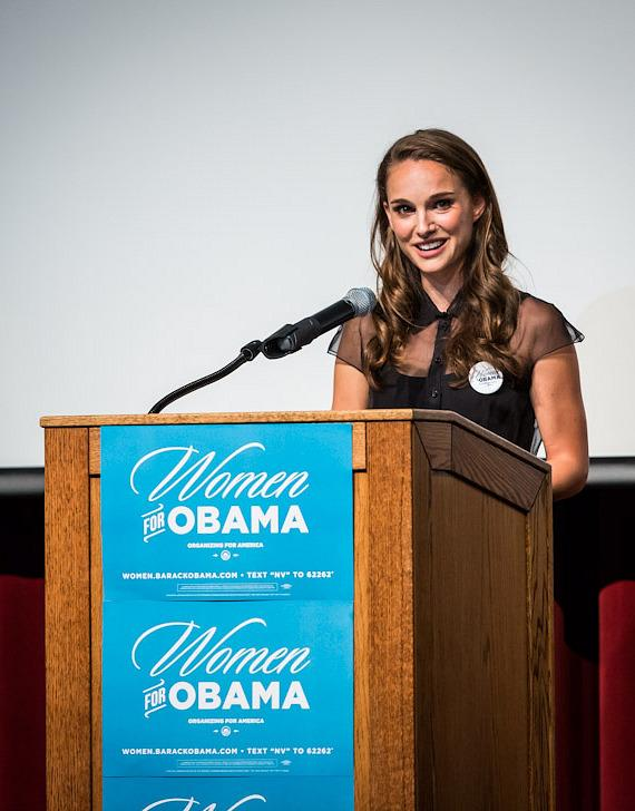 Natalie Portman speaks at The Nevada Women Vote 2012 Summit in Las Vegas
