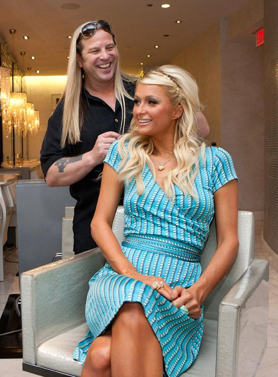 Michael Boychuck and Paris Hilton at COLOR: A Salon at Caesars Palace