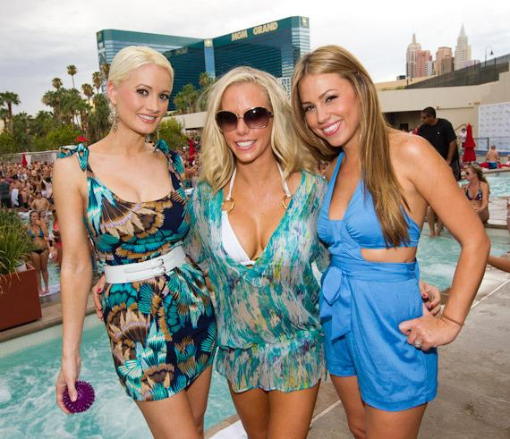 Holly Madison, Kendra Wilkinson-Baskett and Jessica Hall at WET REPUBLIC