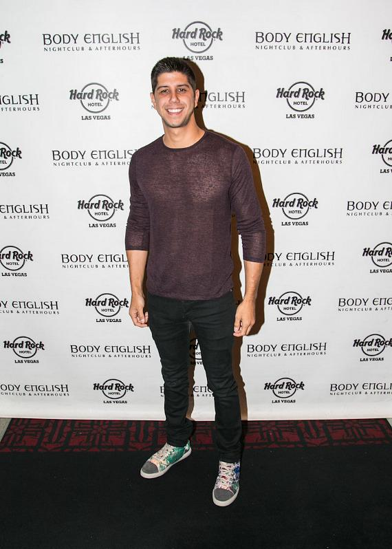 SoMo on red carpet at Body English in Hard Rock Hotel Las Vegas