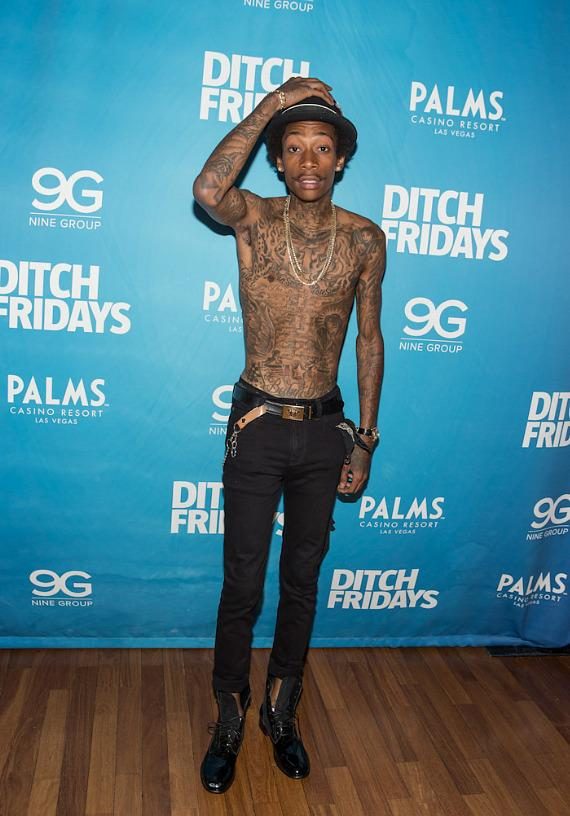 Wiz Khalifa arrives at Palms Casino Resort in Las Vegas