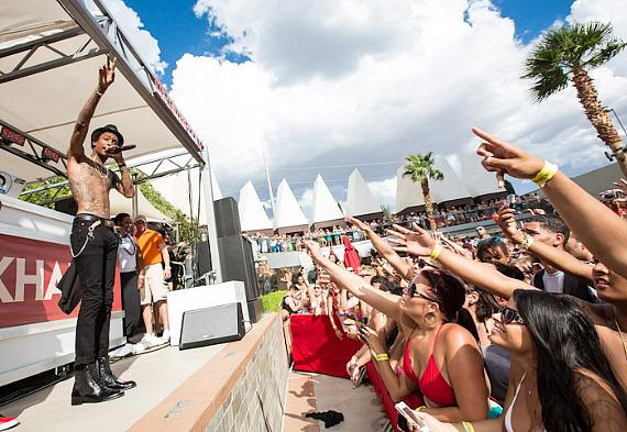 Wiz Khalifa performs at Palms Casino Resort in Las Vegas