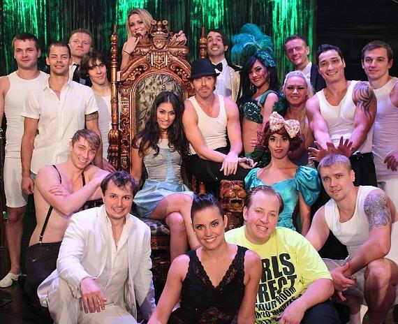 Janina Gavankar with the ABSINTHE cast
