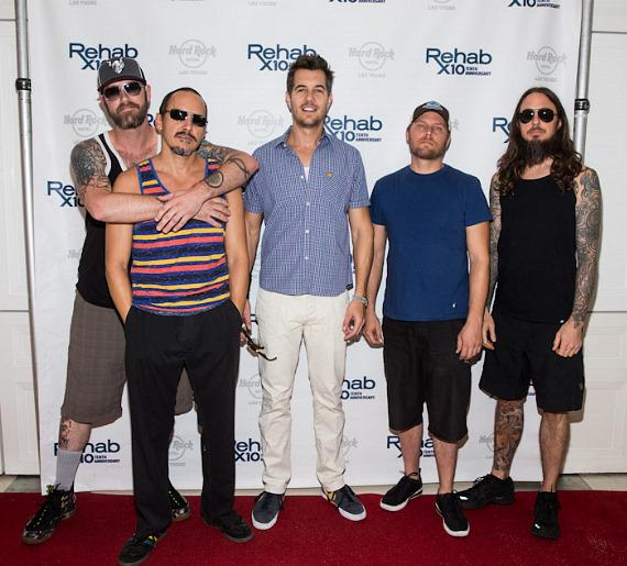 311 arrive at REHAB Pool Party at Hard Rock Hotel & Casino in Las Vegas