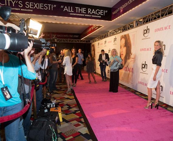 "Red carpet photographers at ""Lovelace"" Premiere in Planet Hollywood Las Vegas"