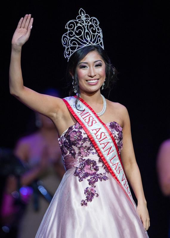 Miss Asian Las Vegas Catherine Ho Gives One Last Wave During Her Reign