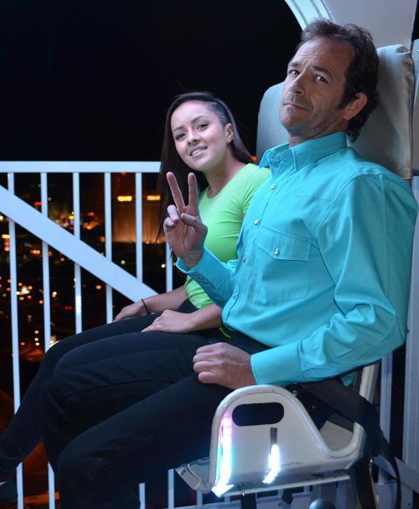 Actor Luke Perry Visits VooDoo Zip Line at Rio All-Suite Hotel & Casino