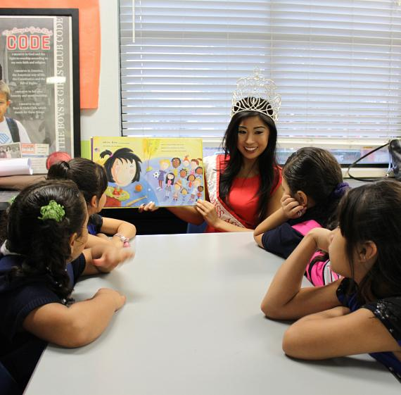 Miss Asian Las Vegas Catherine Ho Reads to  Boys & Girls Clubs of Southern Nevada