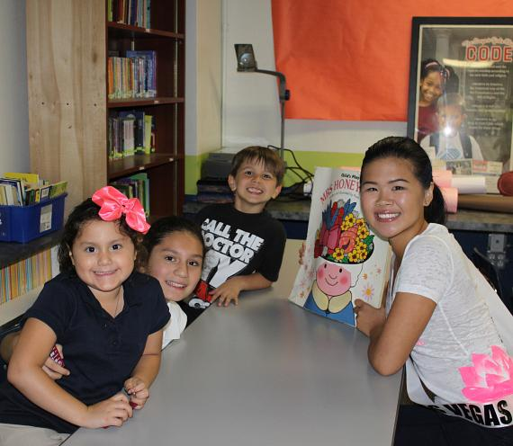 Miss Asian Las Vegas Delegate Celina Go Reads to Boys & Girls Clubs of Southern Nevada