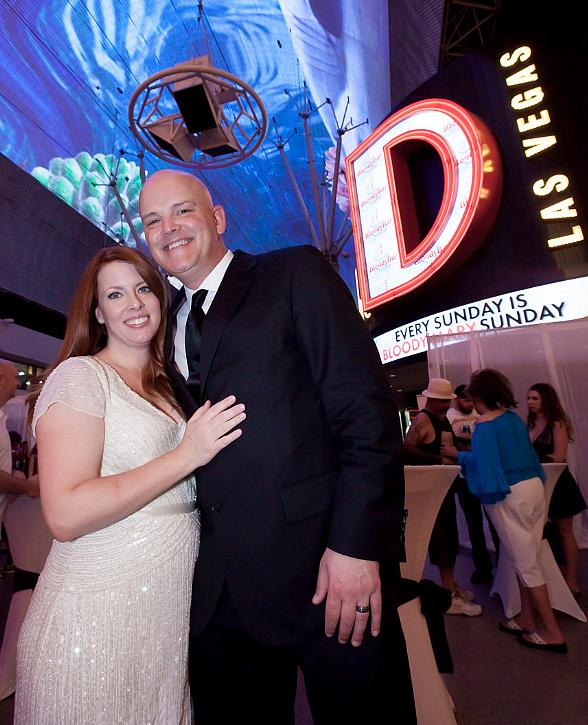 98.5 KLUC's Chet Buchanan and Fiancée Amy Wed by Oscar Goodman at the D in Las Vegas