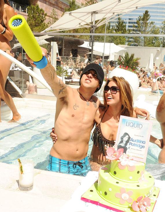 Audrina Patridge and Ryan Cabrera at LIQUID Pool Lounge