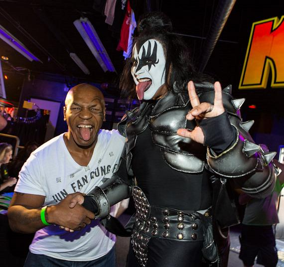 Mike Tyson and KISS Impersonator Luis Reyes