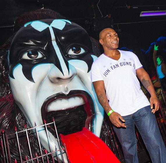 Mike Tyson at KISS Monster Mini Golf in Las Vegas
