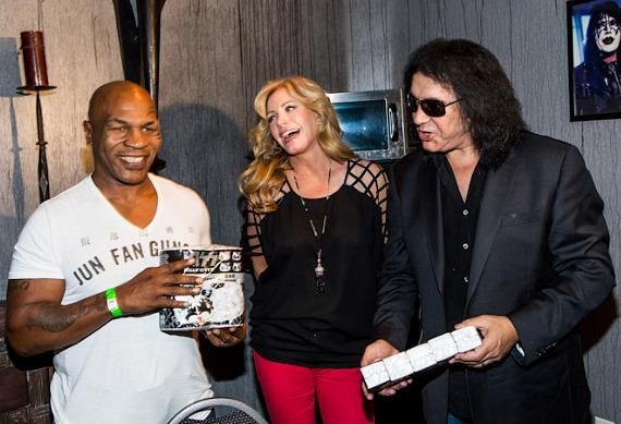 Mike Tyson, Shannon Tweed and Gene Simmons with KISS Toilet Paper