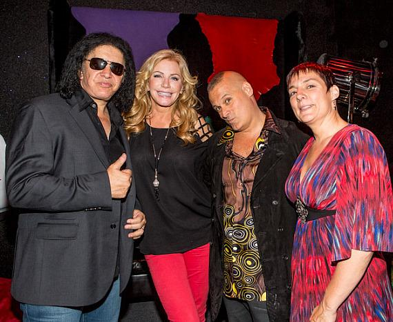 Gene Simmons, Shannon Tweed, Patrick Vitagliano and Christina Vitagliano