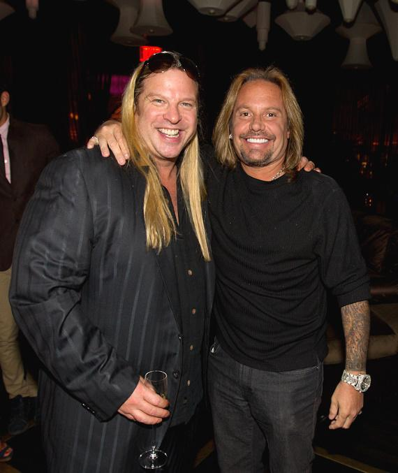 Michael Boychuck and Vince Neil