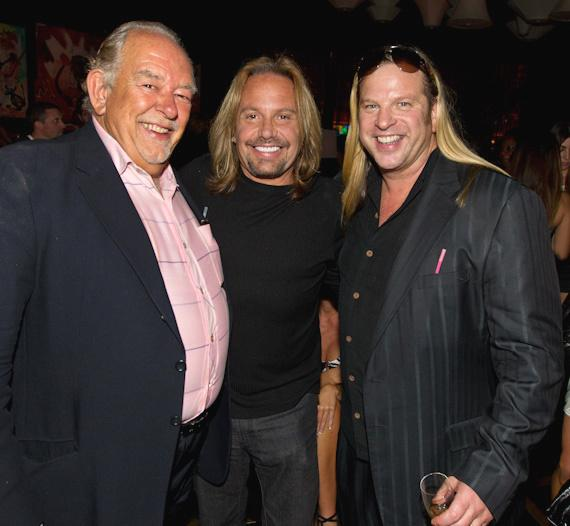 Robin Leach, Vince Neil and Michael Boychuck