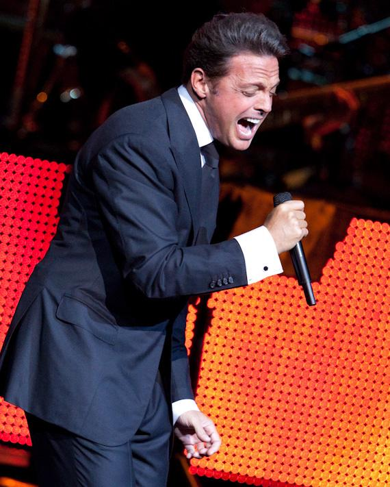 Latin Pop Star Luis Miguel performs at Mandalay Bay