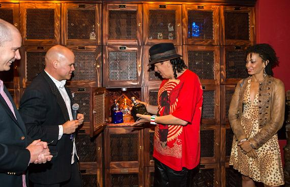 Carlos Santana honored with Casa Noble Tequila Locker in The Foundation Room at House of Blues