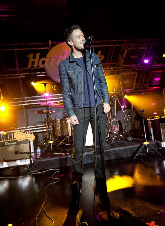 Brandon Flowers with Big Talk at Hard Rock Cafe in Las Vegas