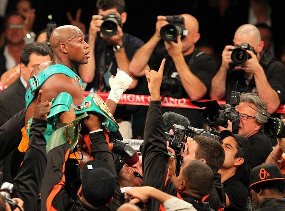 The fight is over as the crowd boos