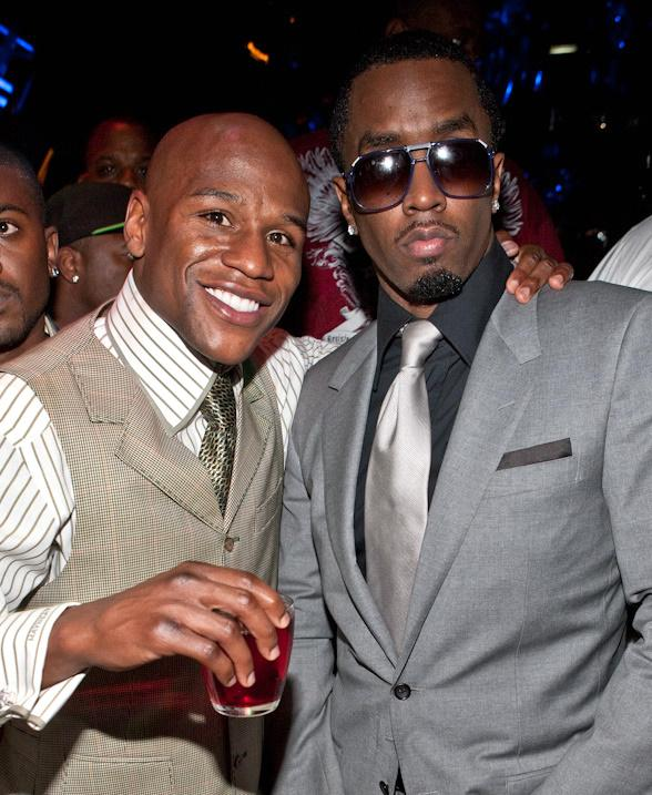 Floyd Mayweather, Jr. and P. Diddy at Studio 54