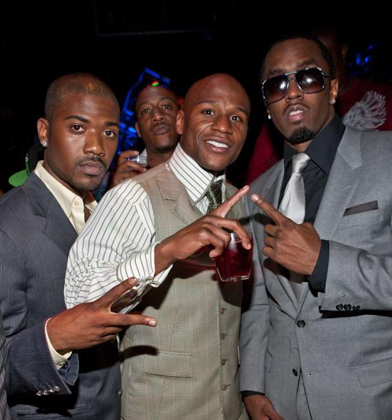 """Ray-J, Floyd Mayweather, Jr. and Sean """"Diddy"""" Combs at Studio 54"""