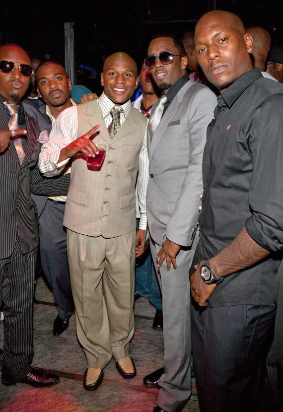 """Floyd Mayweather, Jr. and Sean """"Diddy"""" Combs at Studio 54"""