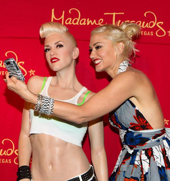 Gwen Stefani unveils her wax figure at Madame Tussauds in Las Vegas