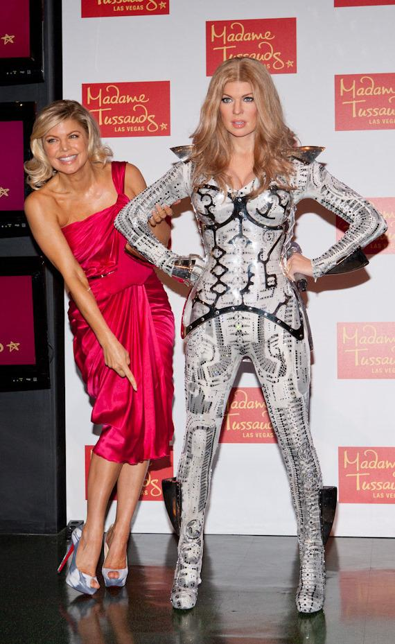 Fergie of Black Eyed Peas Unveils Her Wax Figure at Madame Tussauds Las Vegas