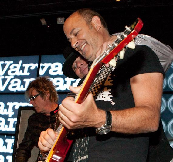 John Varvatos on stage with Cheap Trick