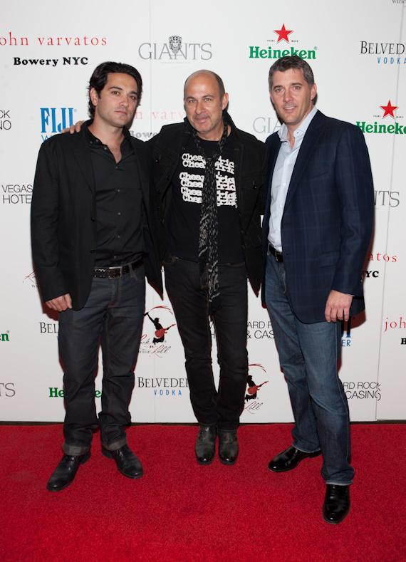 John Varvatos with Phil Shalala and Yale Rowe of Hard Rock Hotel