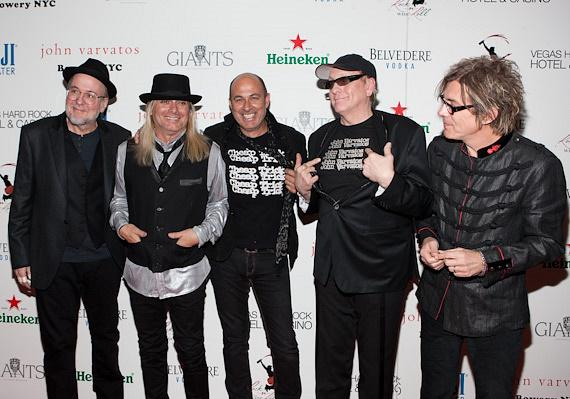Cheap Trick with John Varvatos (center)