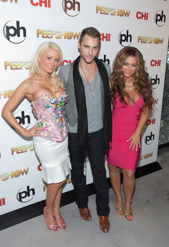 Holly Madison, Jerry Mitchell (creator and director of PEEPSHOW) and Aubrey O'Day