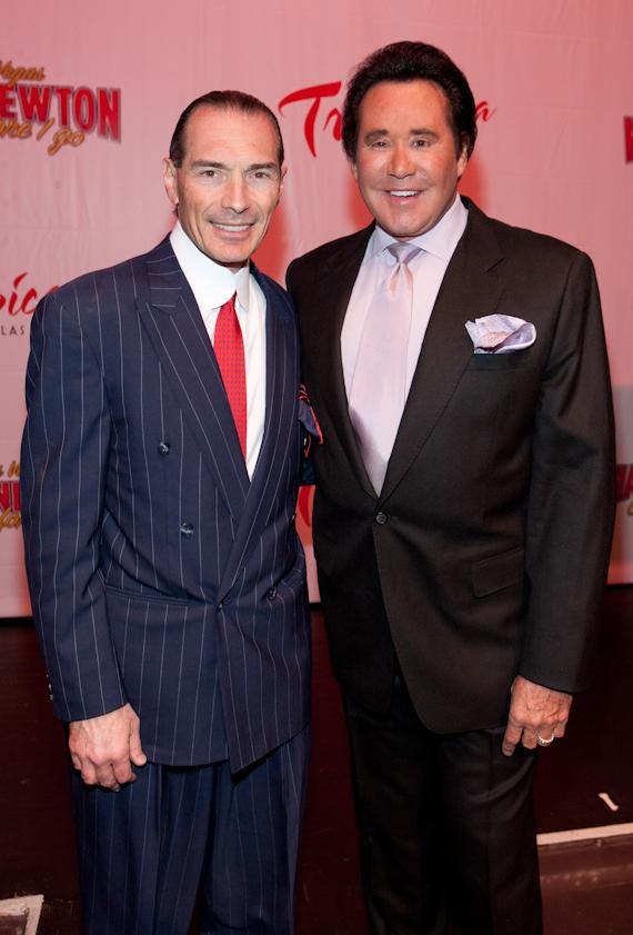 Tropicana Las Vegas Chairman and CEO Alex Yemenidjian and Wayne Newton