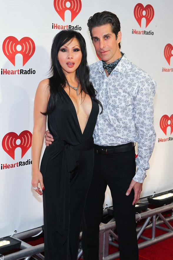 Perry Farrell with wife Etty Lau at iHeart Radio Music Festival