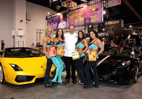 Chef Jay Littman and the Tri-O-Plex Girls of Chef Jay's Food Products