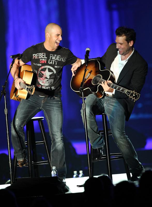 Daughtry and Dane Cook Perform at Andre Agassi Foundation Children Benefit Concert