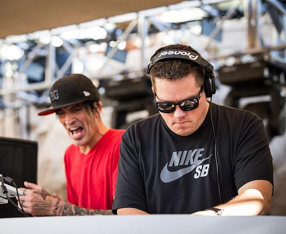 Tommy Lee and DJ Aero spin at REHAB Pool Party in Las Vegas